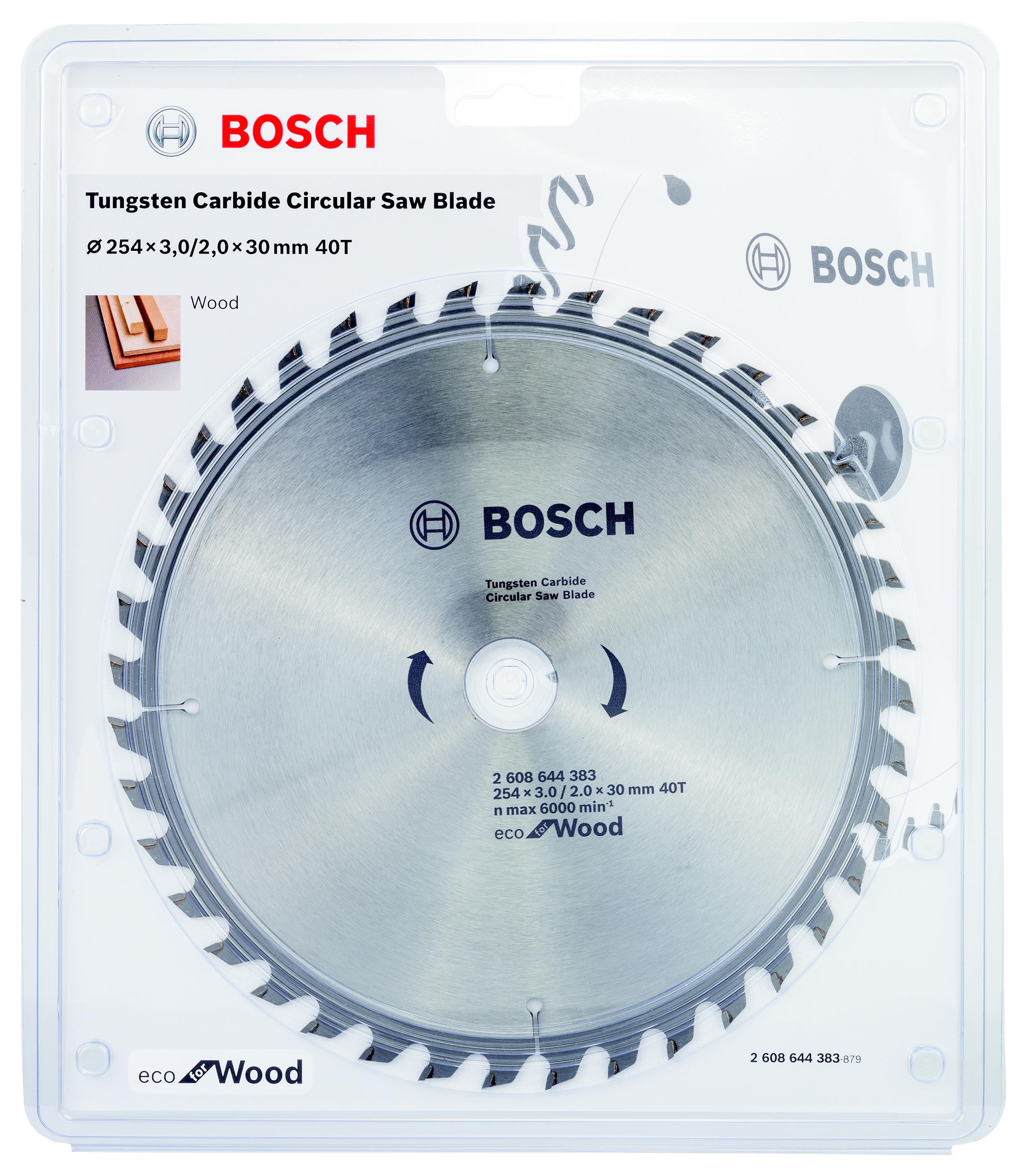Диск пильный твердосплавный Bosch Eco wo 254x30-40t (2.608.644.383) диск пильный твердосплавный bosch eco wo 254x30 40t 2 608 644 383 по дереву