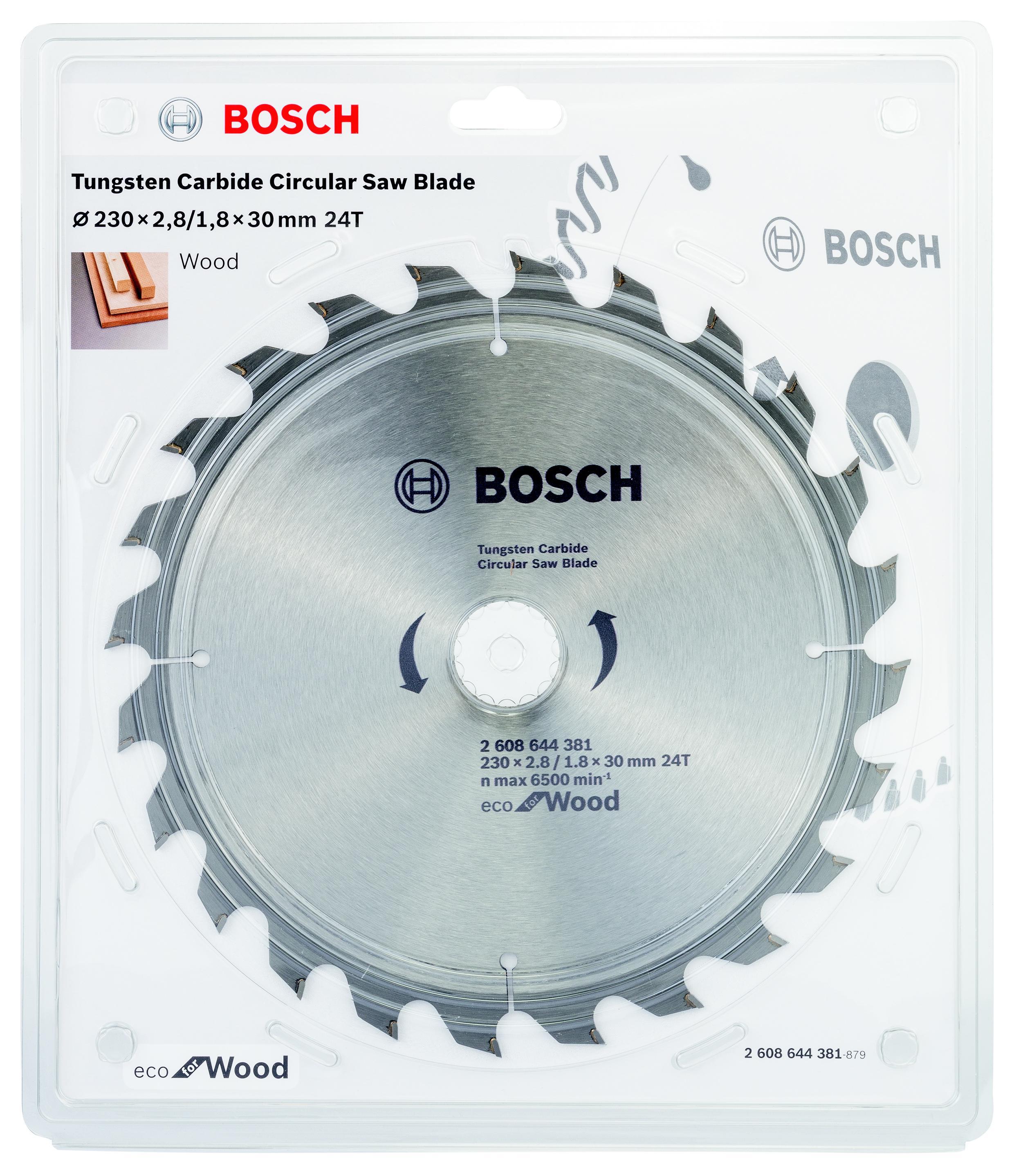 Диск пильный твердосплавный Bosch Eco wo 230x30-24t (2.608.644.381)