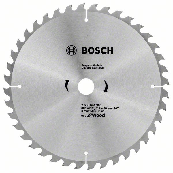 Диск пильный твердосплавный Bosch Eco wo 305x30-40t (2.608.644.385) диск пильный твердосплавный bosch eco wo 254x30 40t 2 608 644 383 по дереву