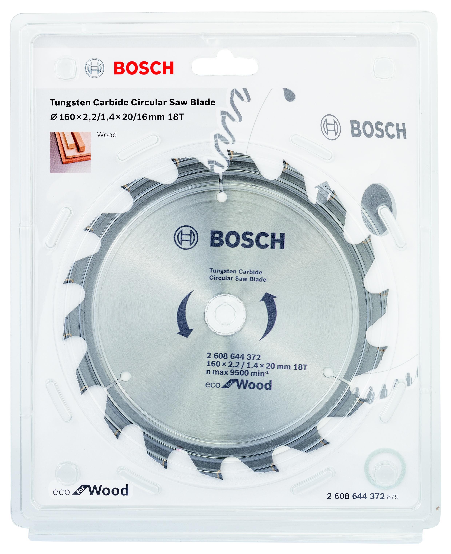 Диск пильный твердосплавный Bosch Eco wo 160x20-18t (2.608.644.372) bosch eco 11c 101b