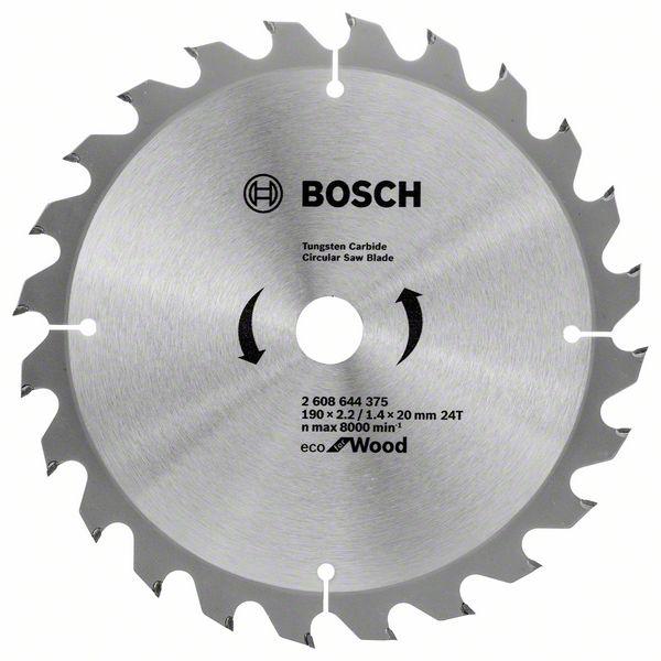 Диск пильный твердосплавный Bosch Eco wo 190x20-24t (2.608.644.375) bosch eco 11c 101b
