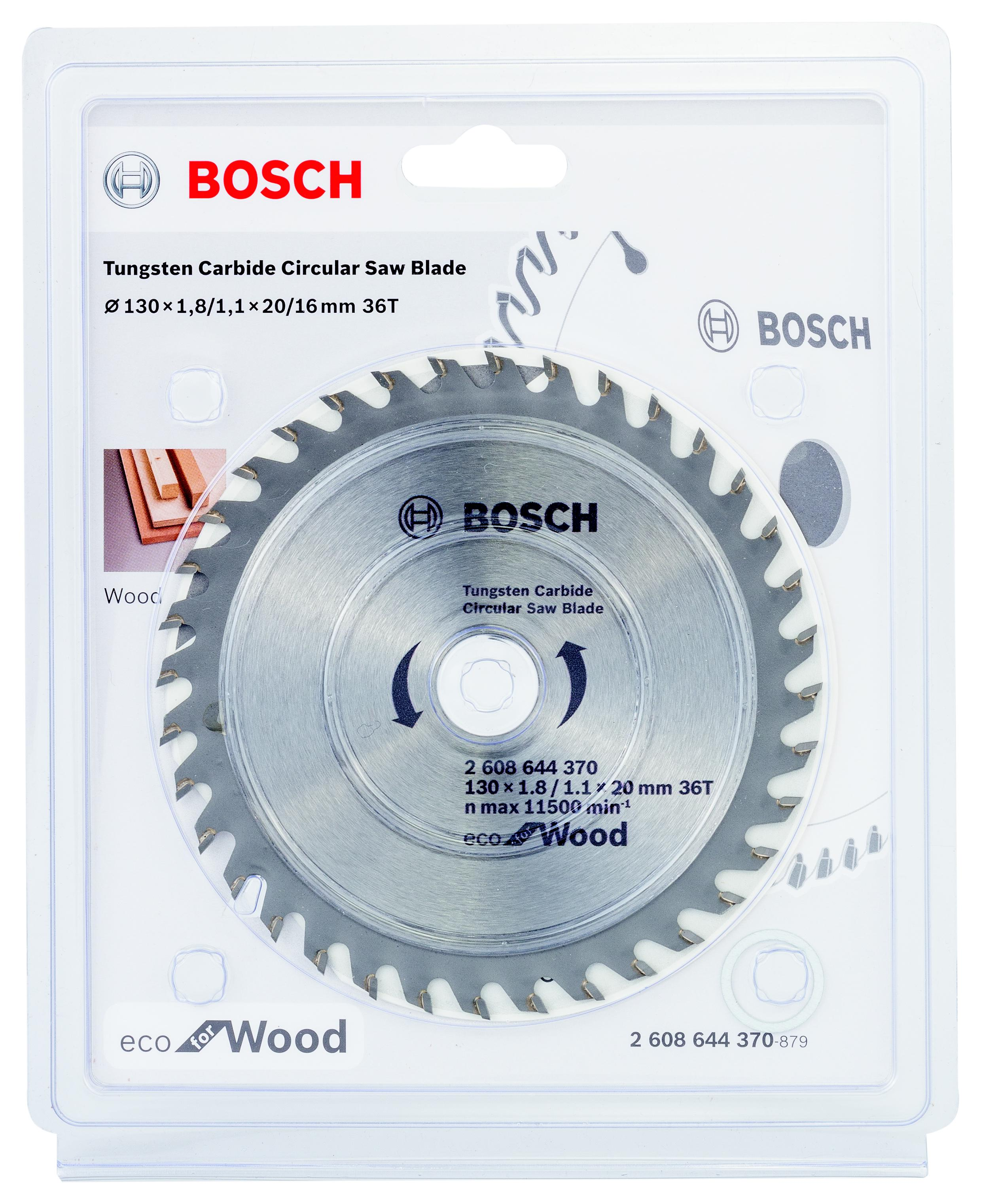 Диск пильный твердосплавный Bosch Eco wo 130x20-36t (2.608.644.370)