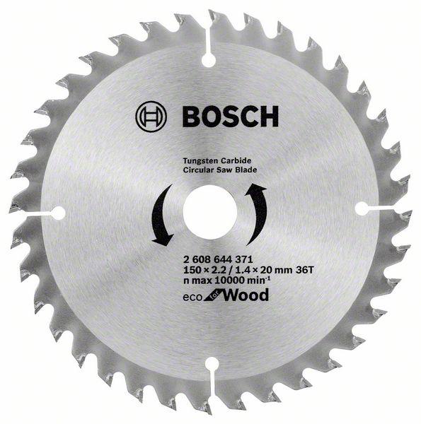 Диск пильный твердосплавный Bosch Eco wo 150x20-36t (2.608.644.371)