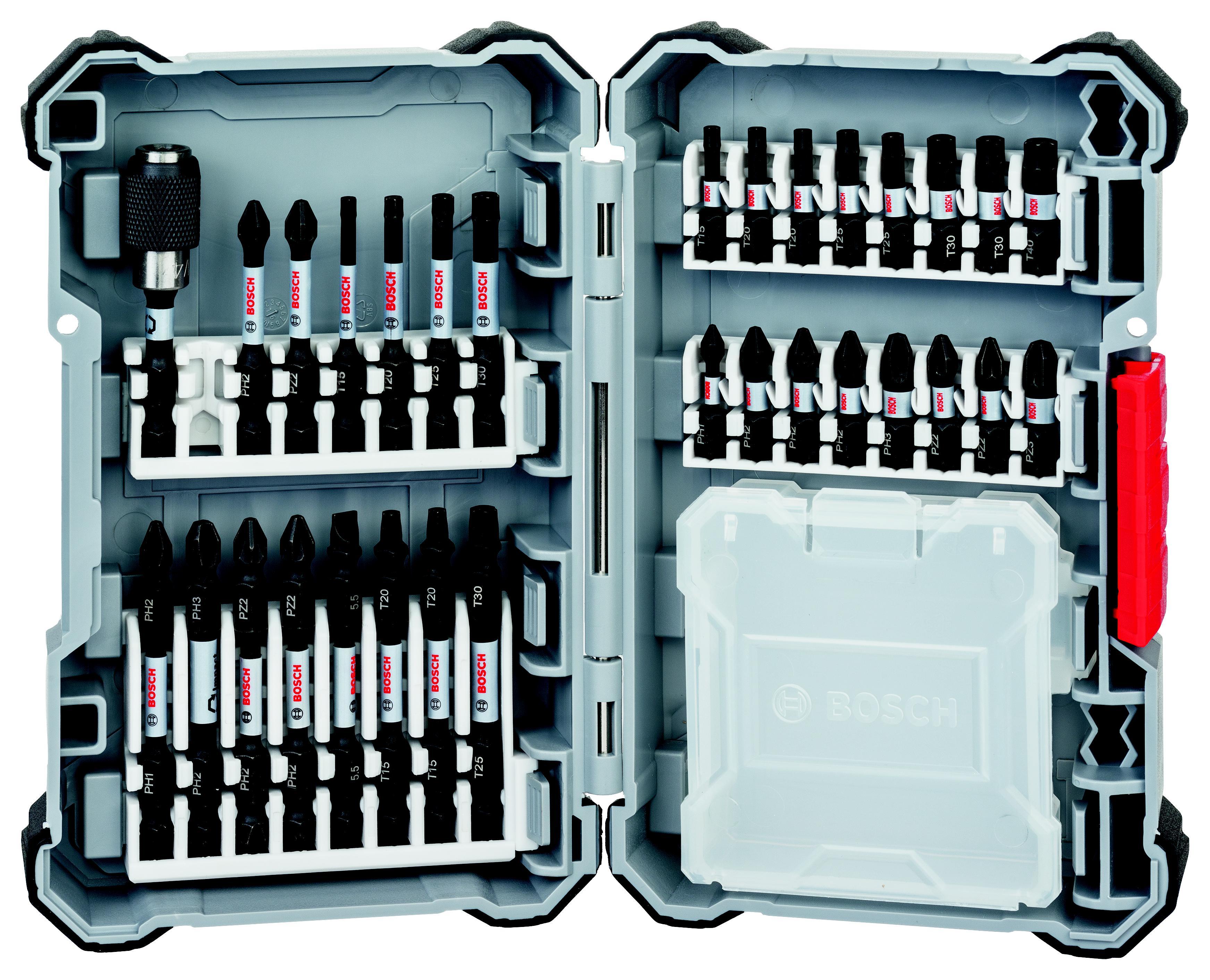 Набор оснастки Bosch 60мм (impact control 2.608.522.366) набор оснастки bosch impact control 2 608 522 365 проф биты держатели и торц ключи