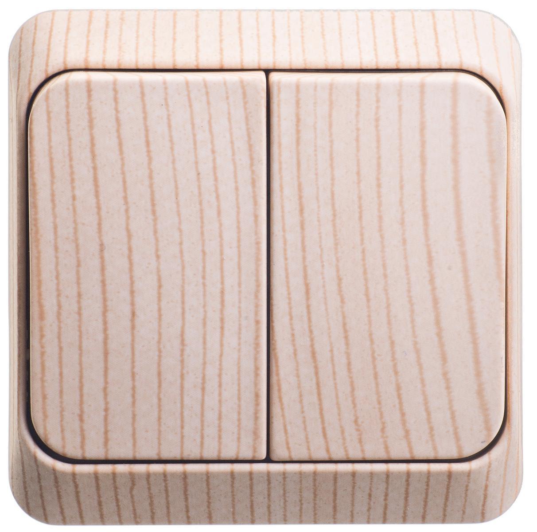 Выключатель Schneider electric Ba10-006d Этюд выключатель 2 клавишный сосна этюд