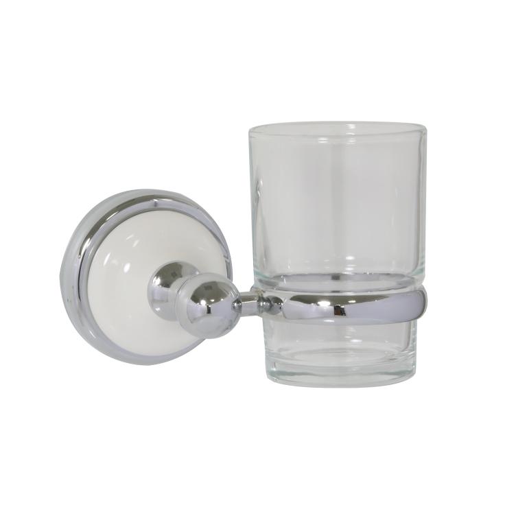 Стакан Axentia Lyon premium 122448 мыльница axentia lyon овальная цвет белый серебристый