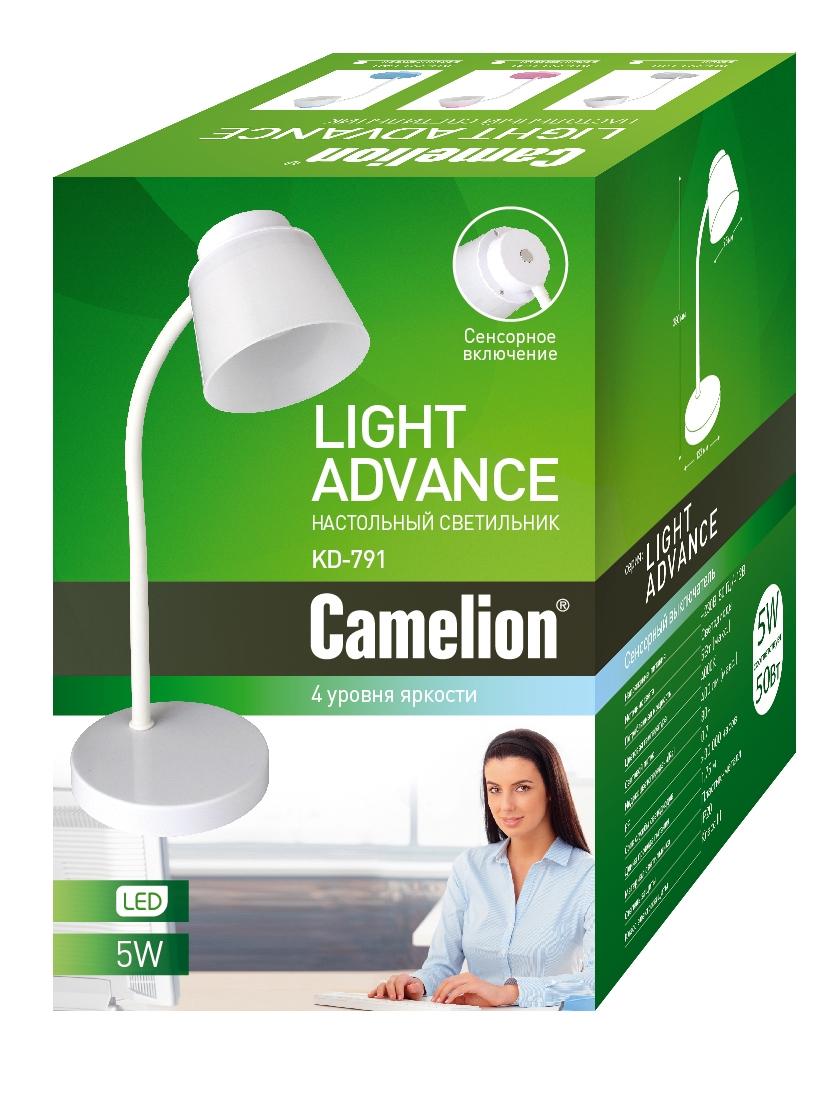 Лампа настольная Camelion Kd-791 c01 торшер camelion kd 806 5вт led 220в белый