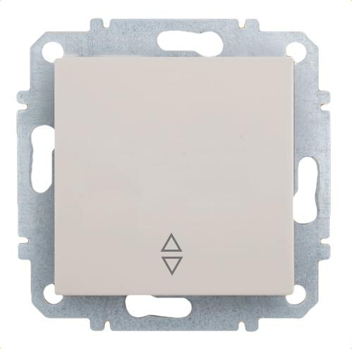 Выключатель Zakru Za215414 Бежевый выключатель двухклавишный наружный бежевый 10а quteo
