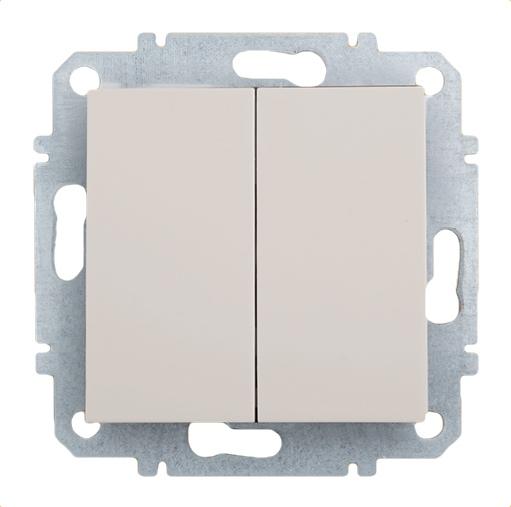Выключатель Zakru Za215418 Бежевый выключатель двухклавишный наружный бежевый 10а quteo
