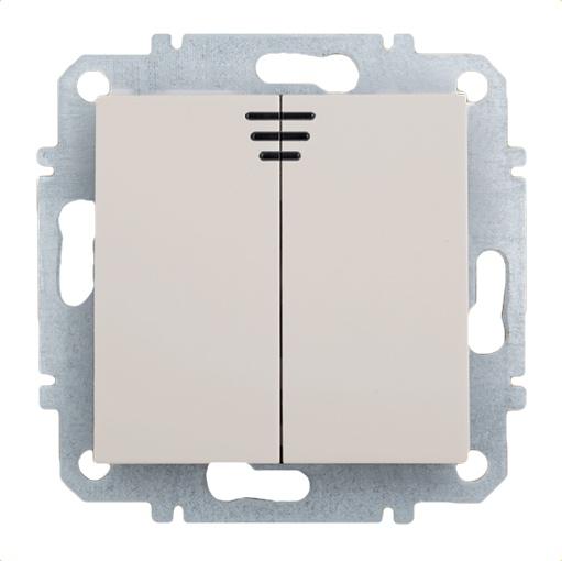 Выключатель Zakru Za215419 Бежевый выключатель двухклавишный наружный бежевый 10а quteo