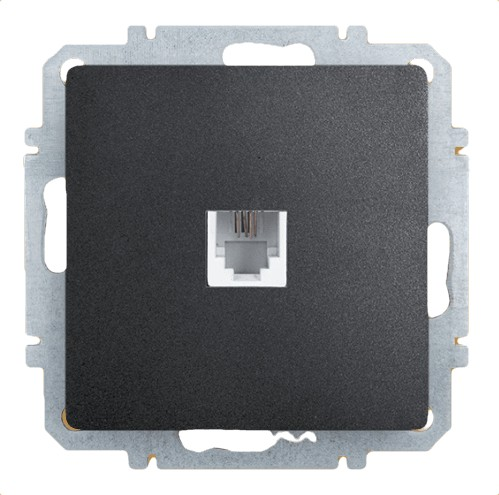 Розетка Zakru Za215407 Черный телефонная розетка abb bjb basic 55 шато 1 разъем цвет черный