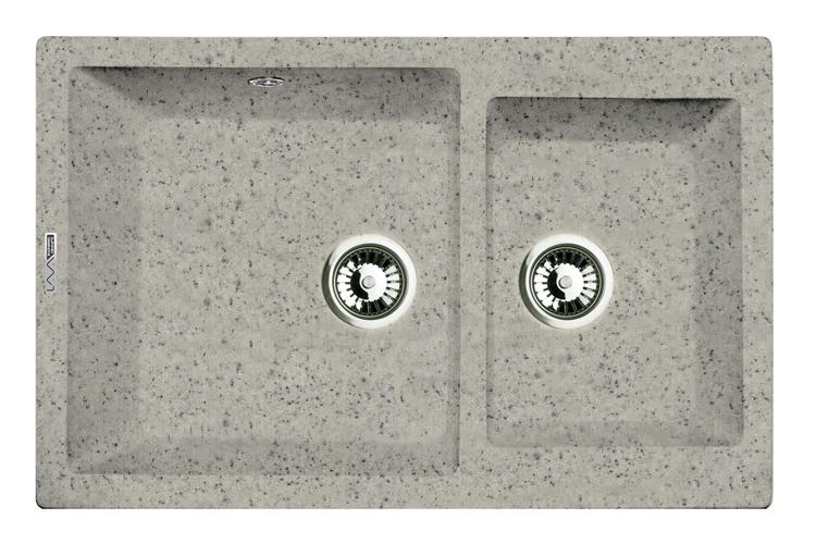 Мойка кухонная Lava D3.sca смеситель для мойки 201 высокий однорычажный серый polygran полигран