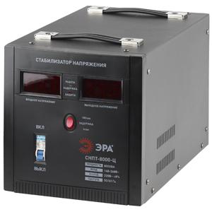 Стабилизатор напряжения ЭРА СНПТ-8000-Ц стабилизатор напряжения эра снпт 1000 ц black