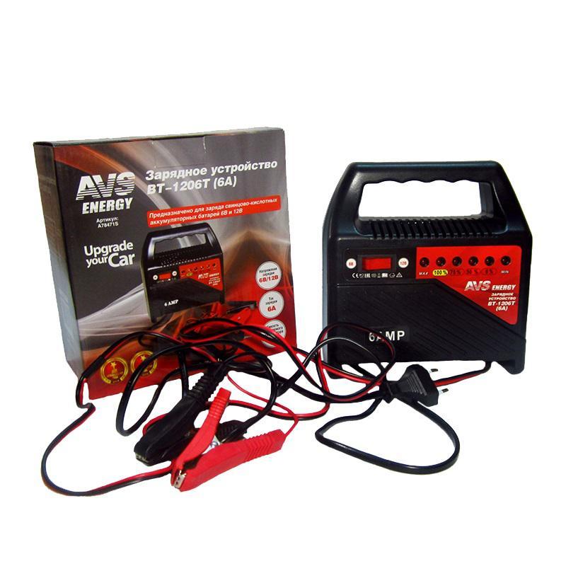 Зарядное устройство Avs Bt-1206t зарядные устройства для электронных книг