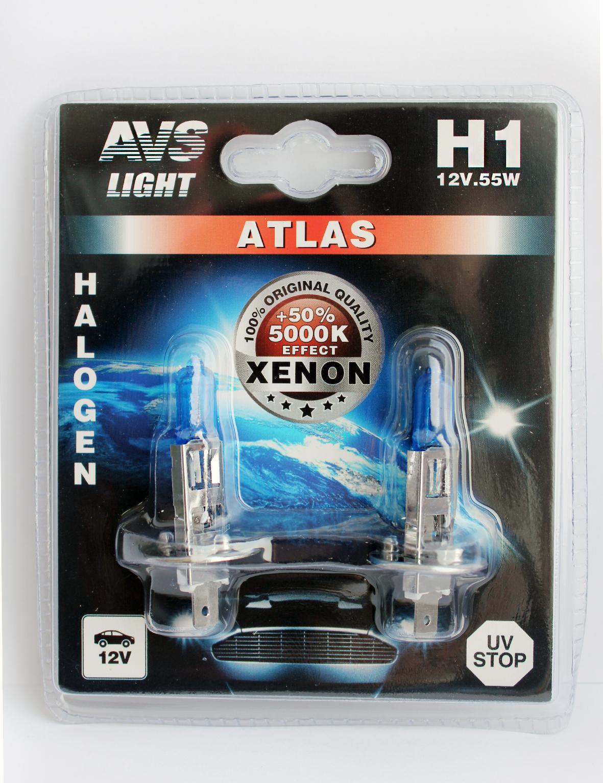 купить Лампа автомобильная Avs Atlas h1 12v 55w недорого