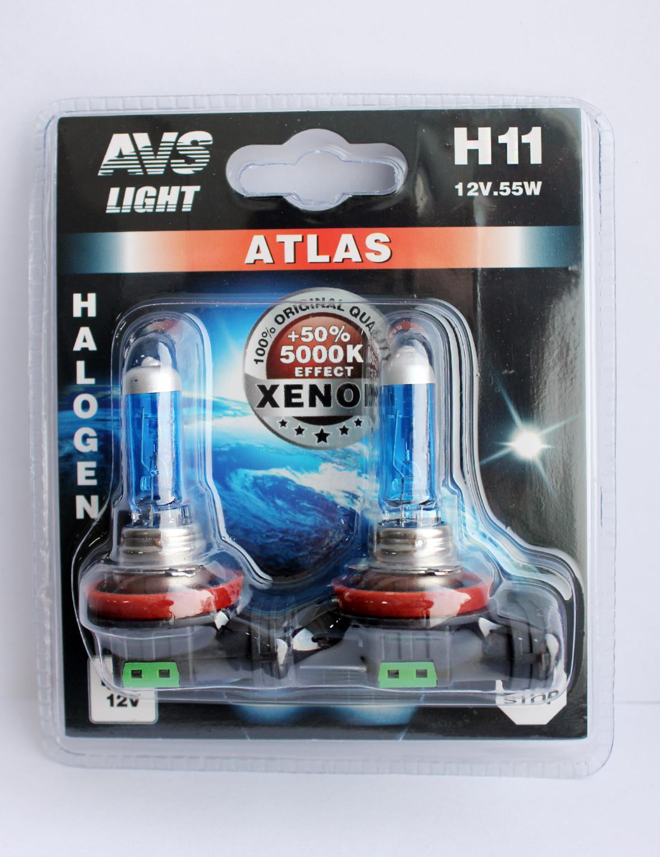 купить Лампа автомобильная Avs Atlas h11 12v 55w недорого