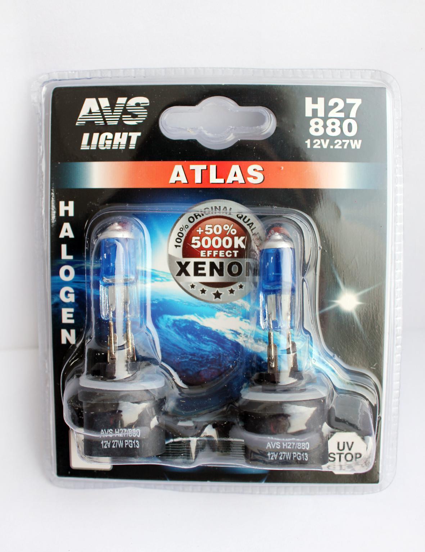 Лампа автомобильная Avs Atlas h27 881 12v 27w