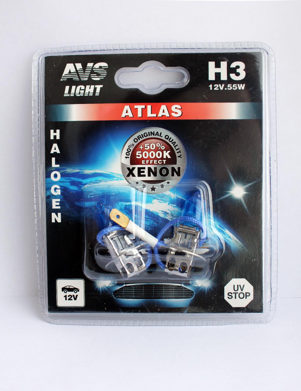 купить Лампа автомобильная Avs Atlas h3 12v 55w недорого