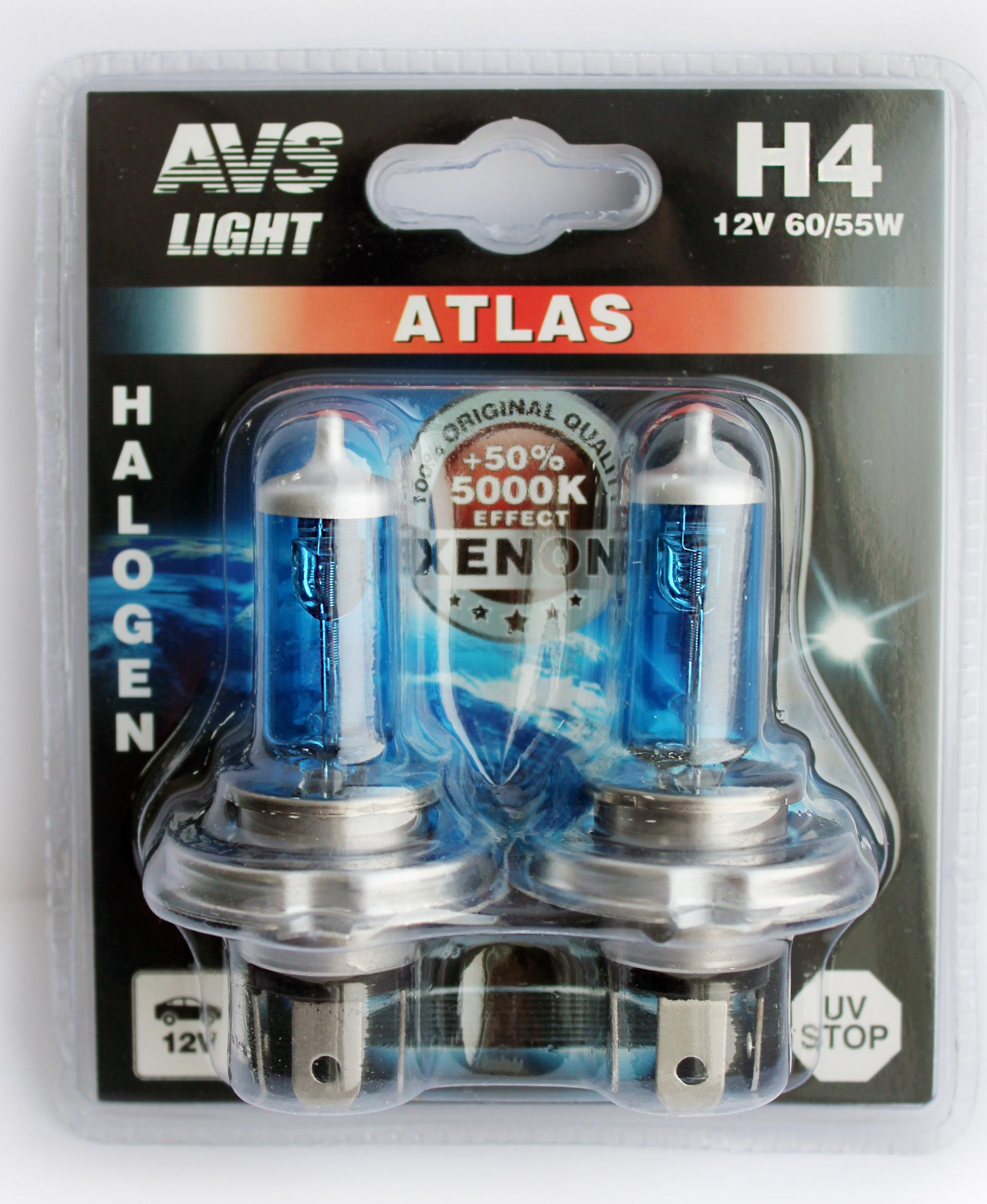 купить Лампа автомобильная Avs Atlas h4 12v 60 55w недорого