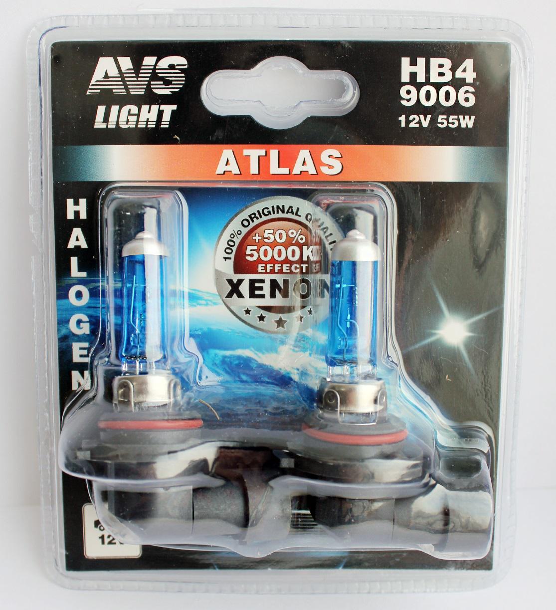 купить Лампа автомобильная Avs Atlas hb4 9006 12v 55w недорого