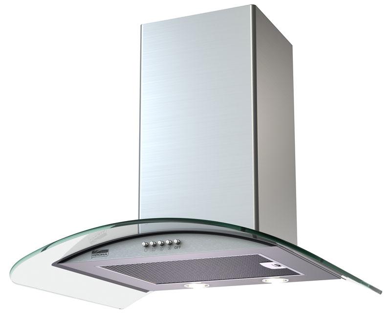 Кухонная вытяжка Krona Sabrina 600 inox/glass push button