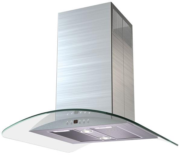 Вытяжка Kronasteel Sharlotta isola 600 inox/glass 5p falmec kristal isola 90 ix glass 600