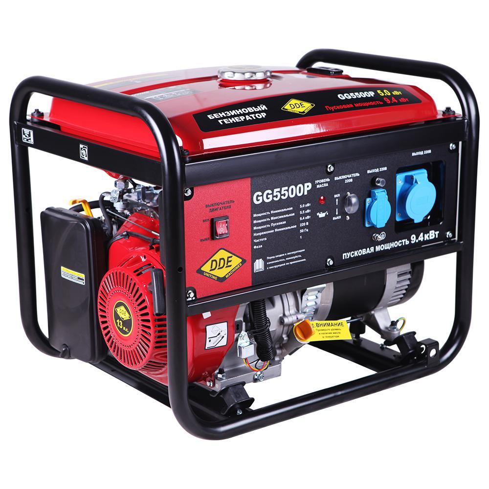 Бензиновый генератор Dde Gg5500p цена и фото