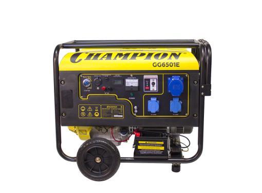 Бензиновый генератор 5 кВт с автозапуском CHAMPION GG6501E + ATS