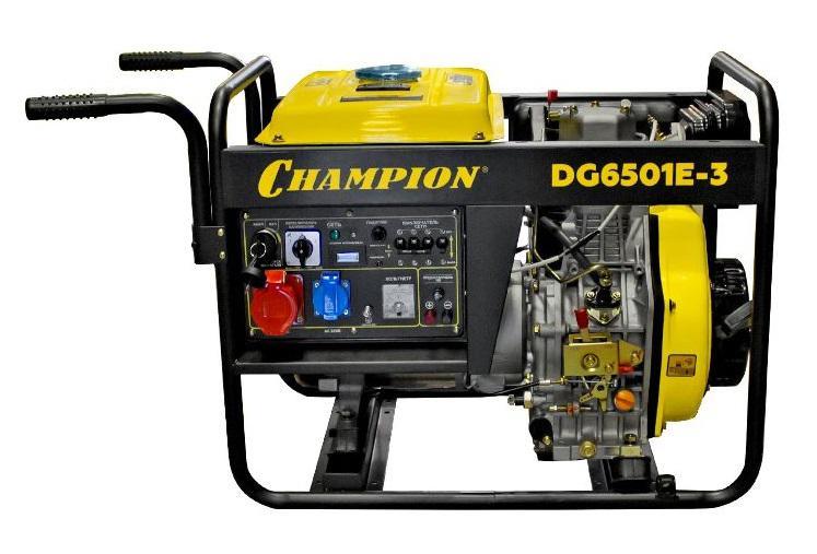 Генератор Champion Dg6501e-3 акб champion dg10000e dg10000e 3 dg6501es c3506