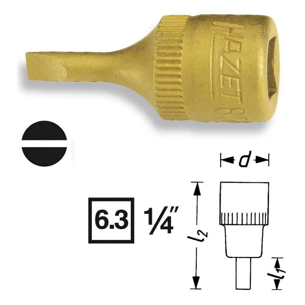Головка Hazet 8503-0.6x3.5 выколотка hazet 748b 4