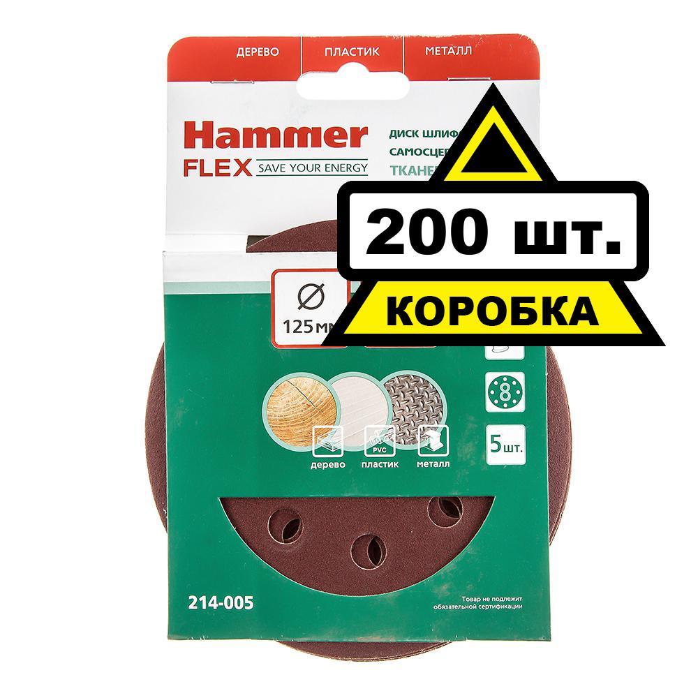 Цеплялка (для ЭШМ) Hammer 125 мм 8 отв. Р 120 Коробка (40шт.) цеплялка для эшм hammer flex 150 мм 6 отв р 40 5шт