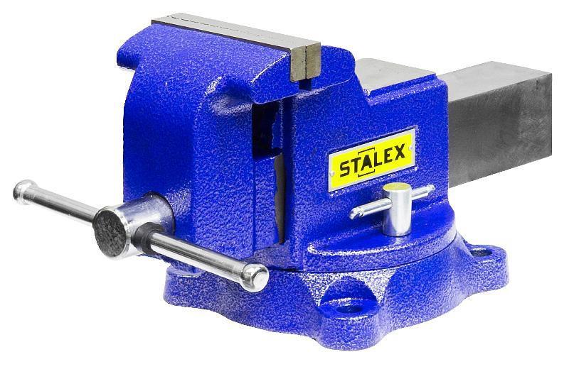 Тиски поворотные Stalex Гризли m40, 100 мм с наковальней недорого