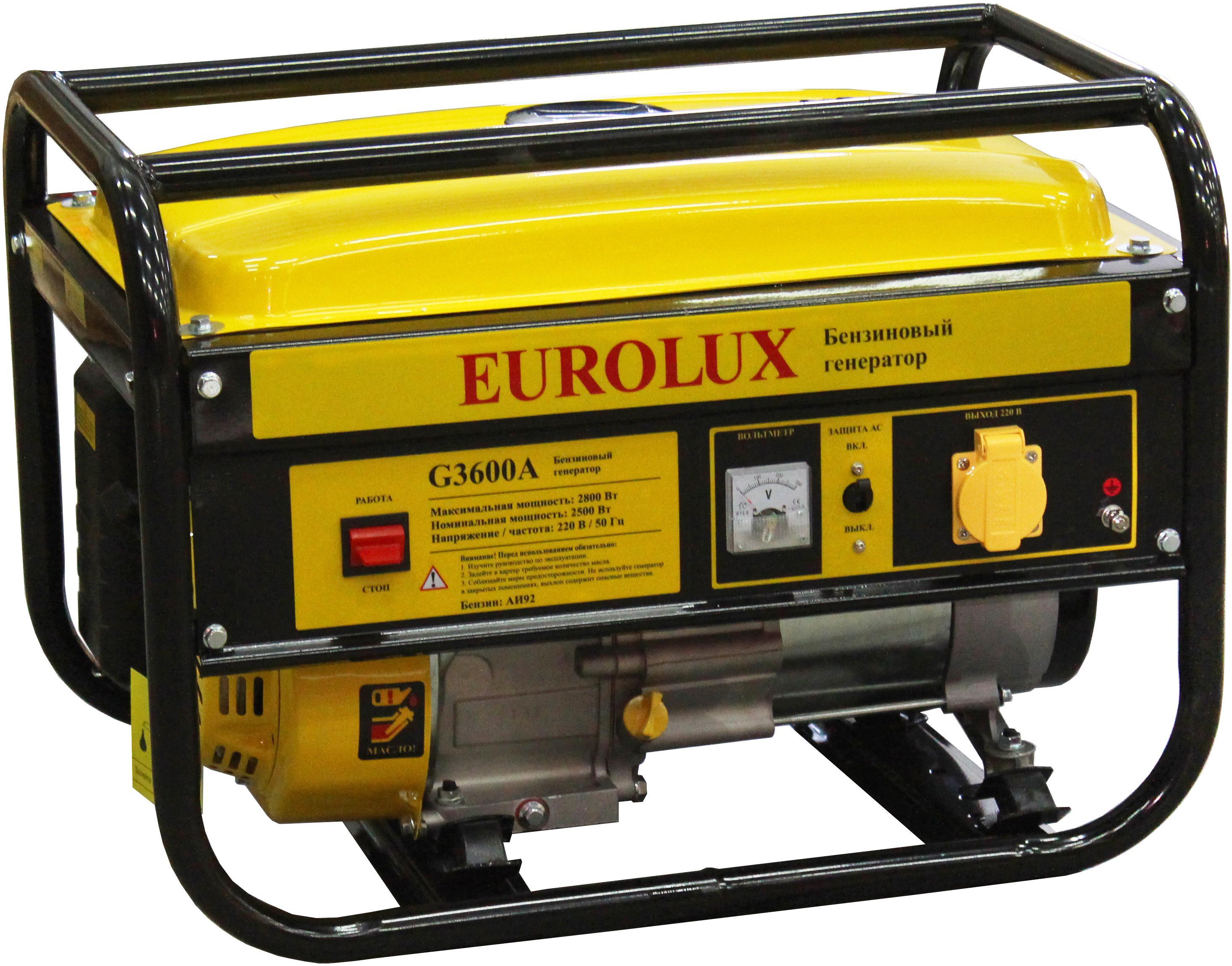 Генератор Eurolux G3600a генератор бензиновый eurolux g3600a