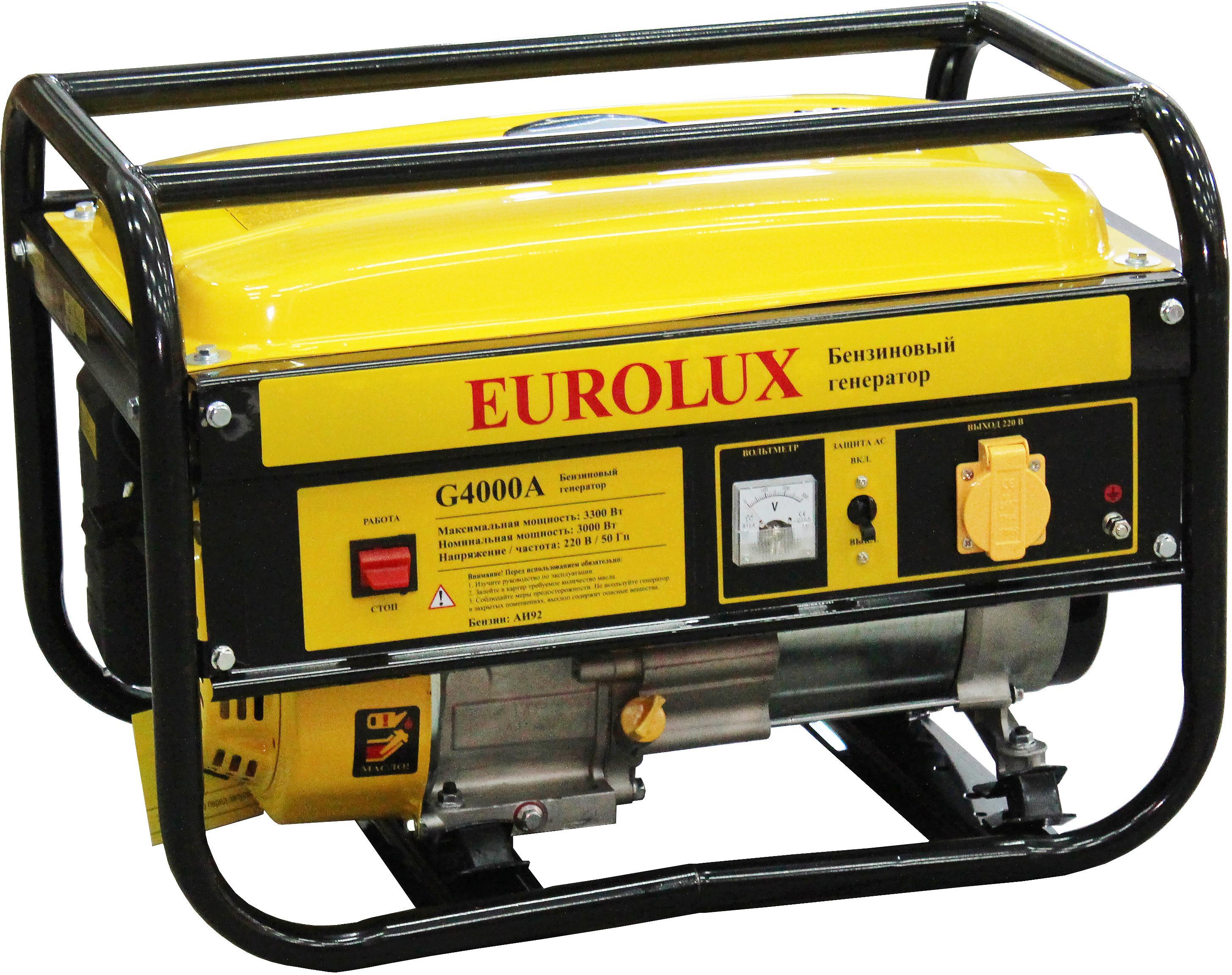 Генератор Eurolux G4000a генератор бензиновый eurolux g3600a