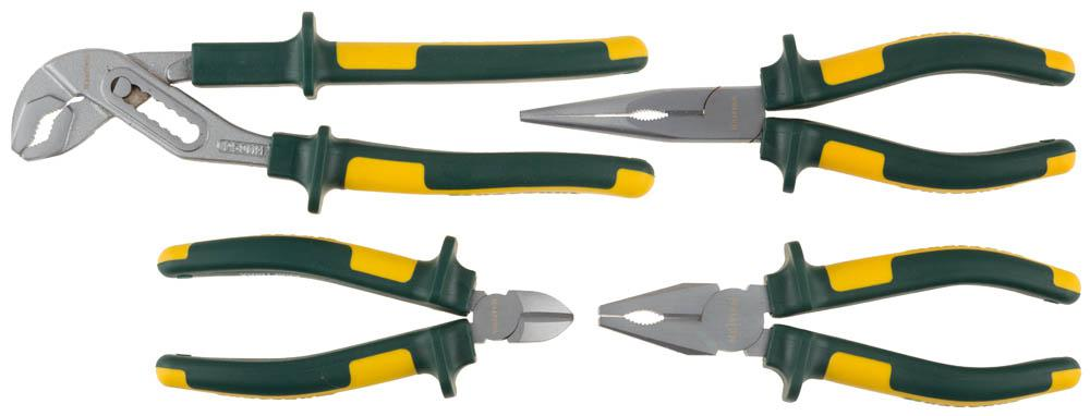 Набор инструментов Kraftool 22011-h4 клещи переставные kraftool 22011 10 25