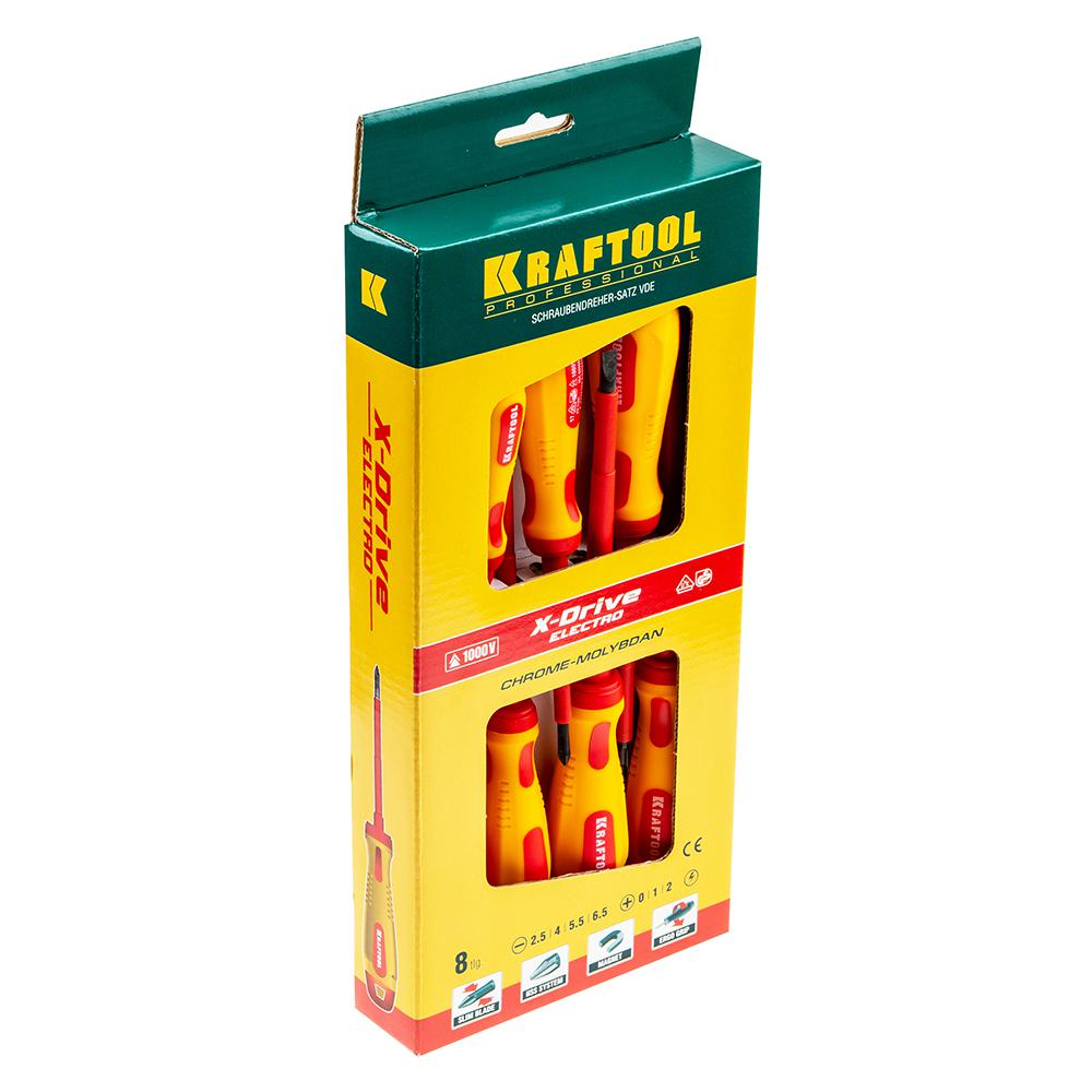 Набор отверток Kraftool 250088-h8 набор отверток 8 предметов центроинструмент 0558