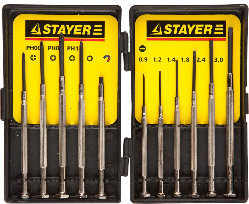 Набор отверток Stayer 2560-h11_z01 набор отверток stayer 25055 h30