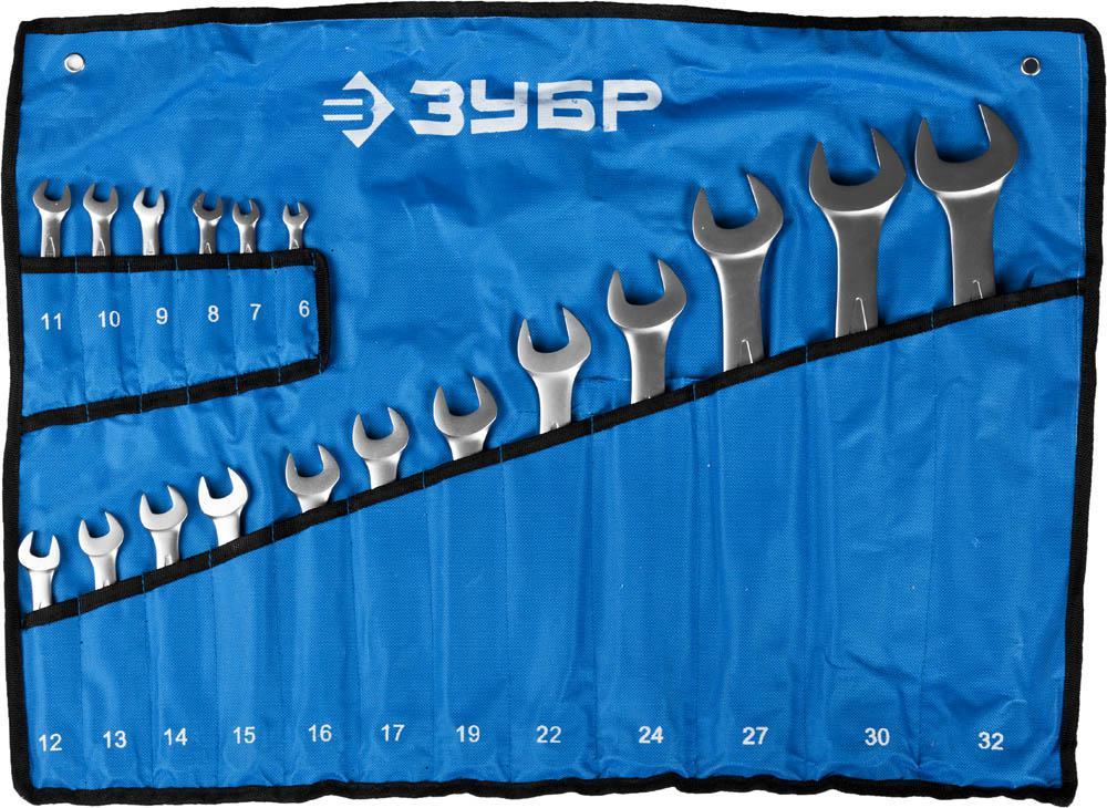 Ключ гаечный ЗУБР 27022-h18 (6 - 32 мм) ключ гаечный зубр 27087 h18 6 32 мм