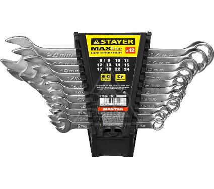 Ключ гаечный STAYER 27085-H12 (8 - 24 мм)