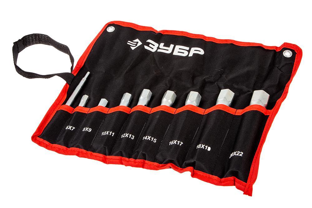 Набор торцевых ключей ЗУБР 27162-h9 набор торцевых головок jonnesway 3 8dr 6 22 мм и комбинированных ключей 7 17 мм 36 предметов