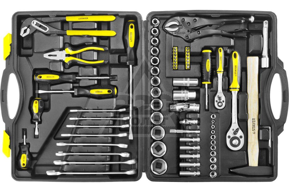 автомобильный набор инструментов для ремонта автомобиля STAYER 27760-H72