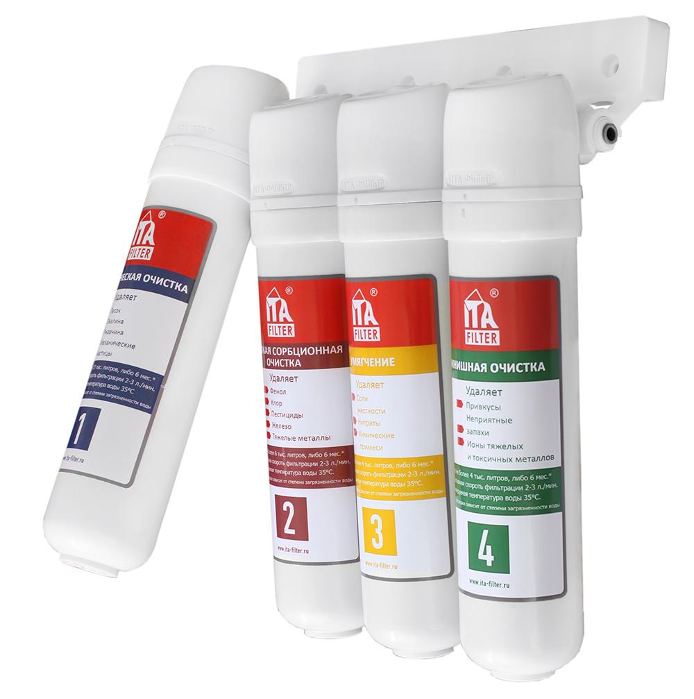 Фильтр Ita filter F10602 стационарный фильтр для воды ita filter онега умягчающий 5 ст