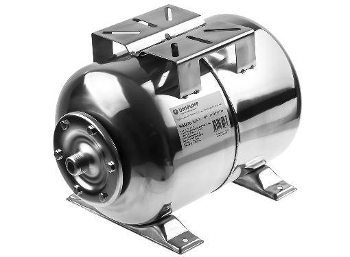 Гидроаккумулятор UNIPUMP 24 л (нерж.) горизонтальный 85109