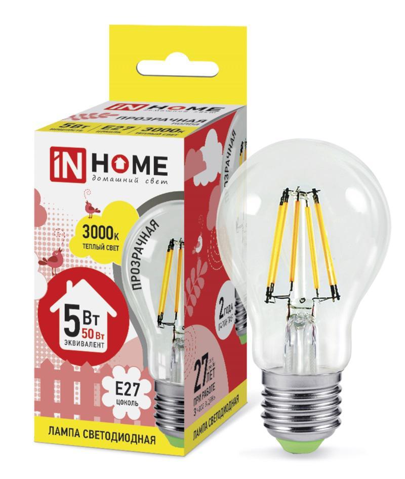 Лампа светодиодная Asd In home led-a60-deco 5Вт 230В Е27 3000К