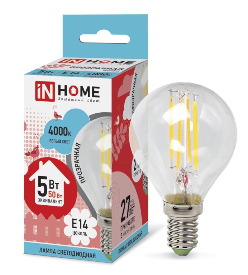 Лампа светодиодная Asd In home led-ШАР-deco 5Вт 230В Е14 4000К deco home стол трансформер