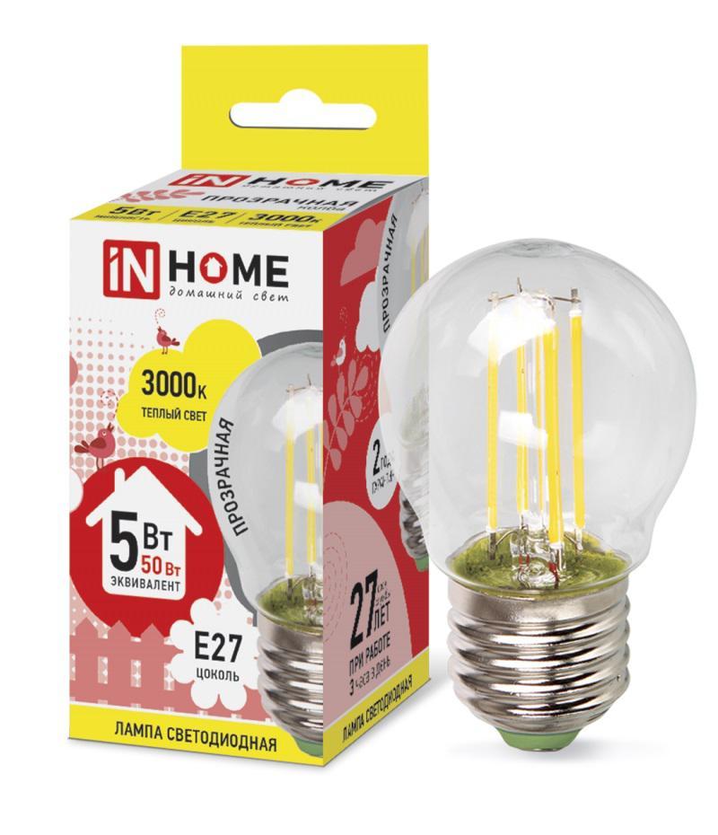 Лампа светодиодная Asd In home led-ШАР-deco 5Вт 230В Е27 3000К deco home стол трансформер