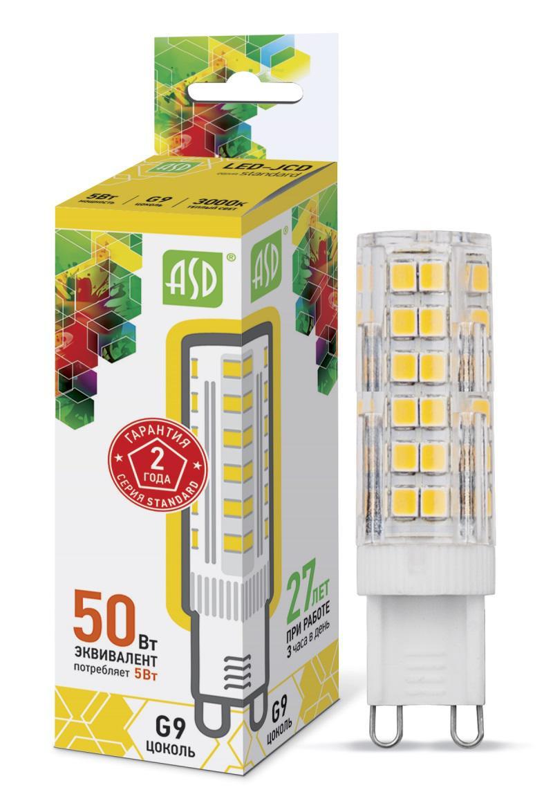 Лампа светодиодная Asd Led-jcd-standard 5Вт 230В g9 3000К
