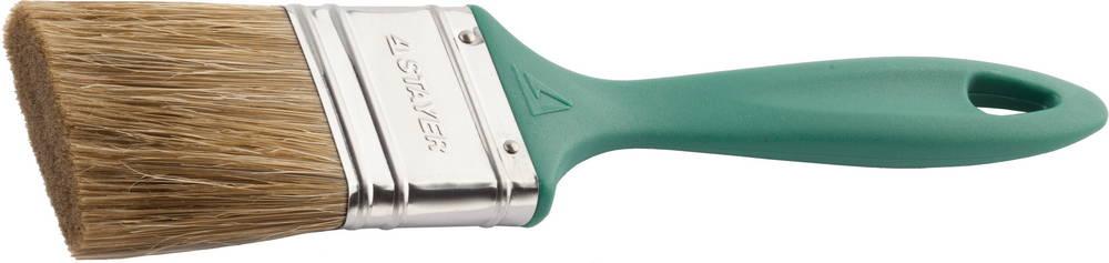 Кисть плоская Stayer 01081-50 кисть плоская universal profi натур щетина 50мм stayer 01085 50 z01
