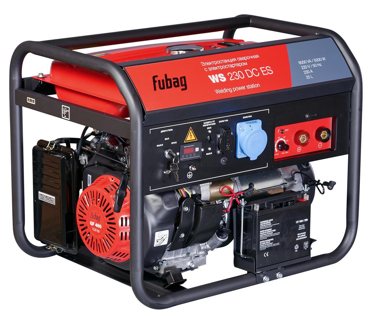 Бензиновый генератор Fubag Ws 230 dc es cкобы fubag 1 05х1 25мм 5 7х22 0 5000шт 140131
