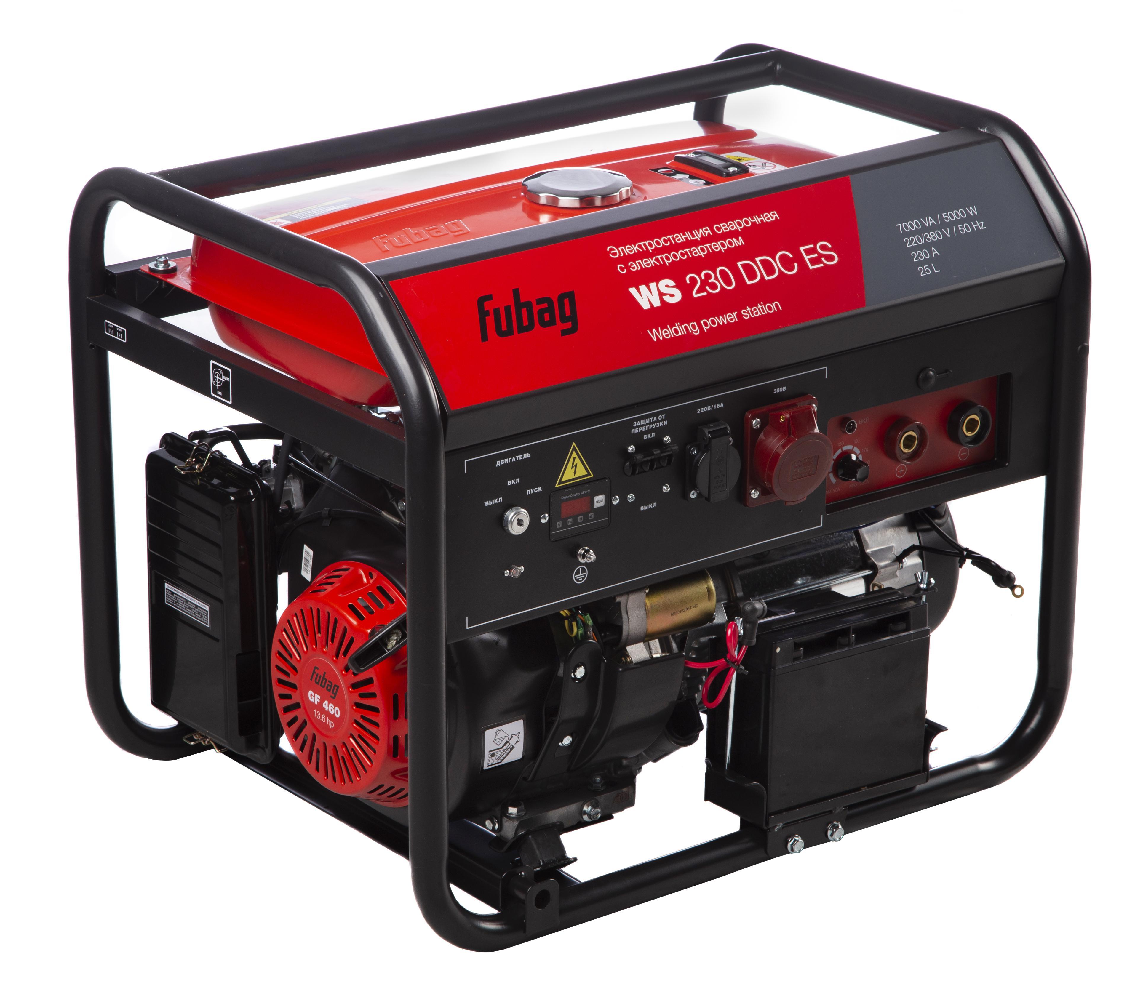 Бензиновый генератор Fubag Ws 230 ddc es электростанция сварочная ws 230 ddc es бензиновая 380 220в